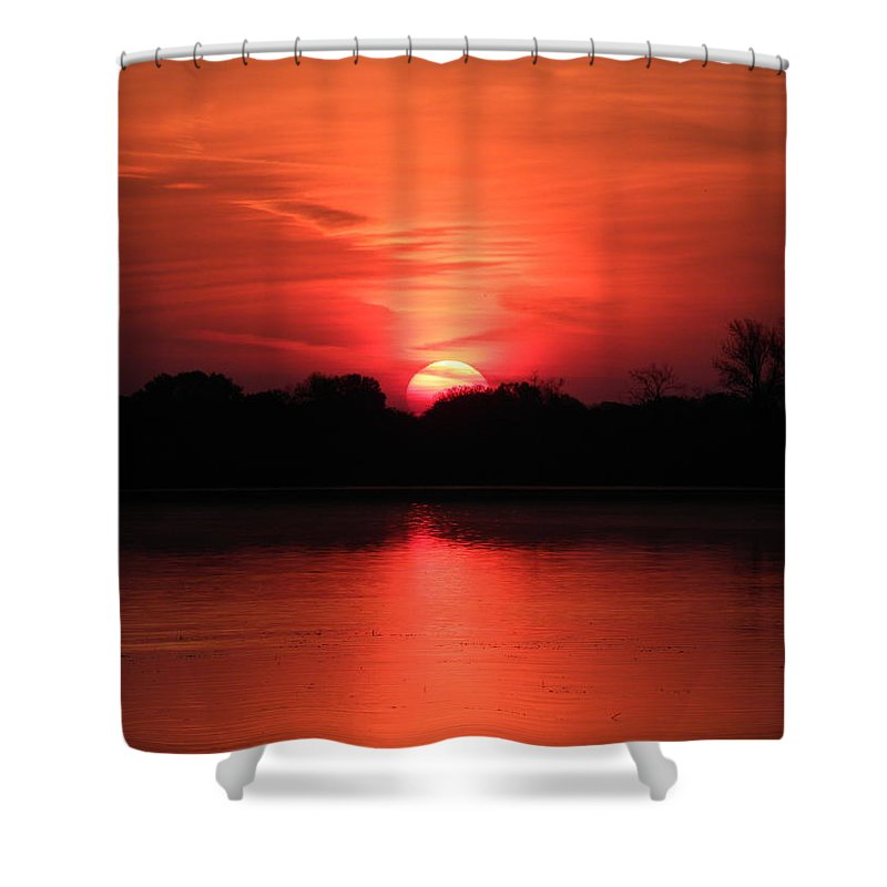 Lake Shower Curtain featuring the photograph Lake Wingra Sunrise by John Wanserski