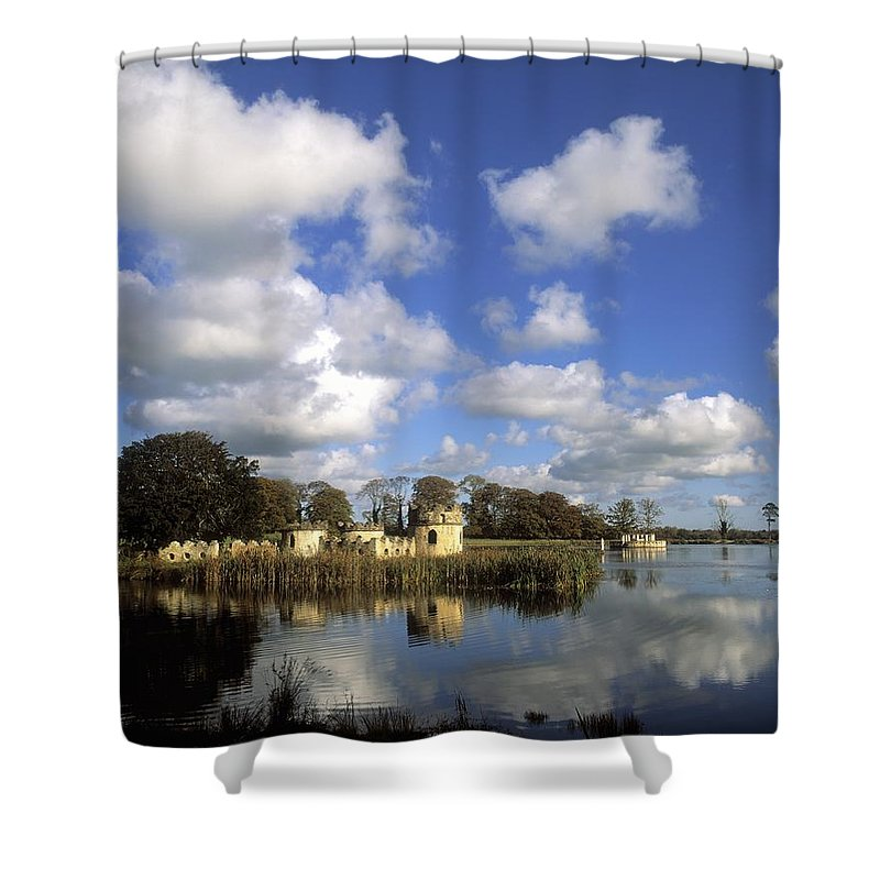 Architecture Shower Curtain featuring the photograph Larchill Arcadian Garden, Co Kildare by The Irish Image Collection