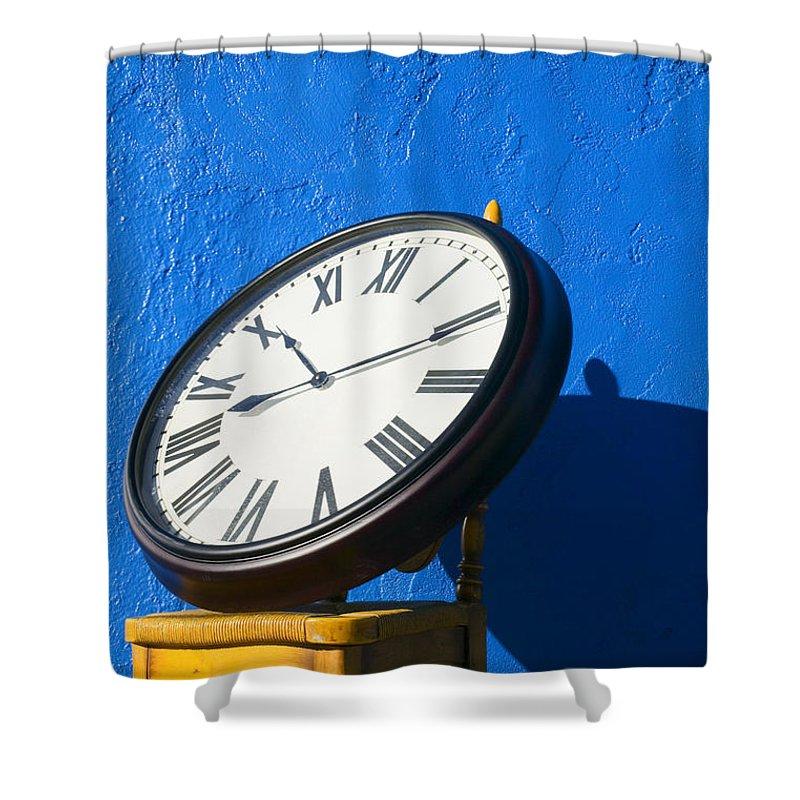 Clock Shower Curtains