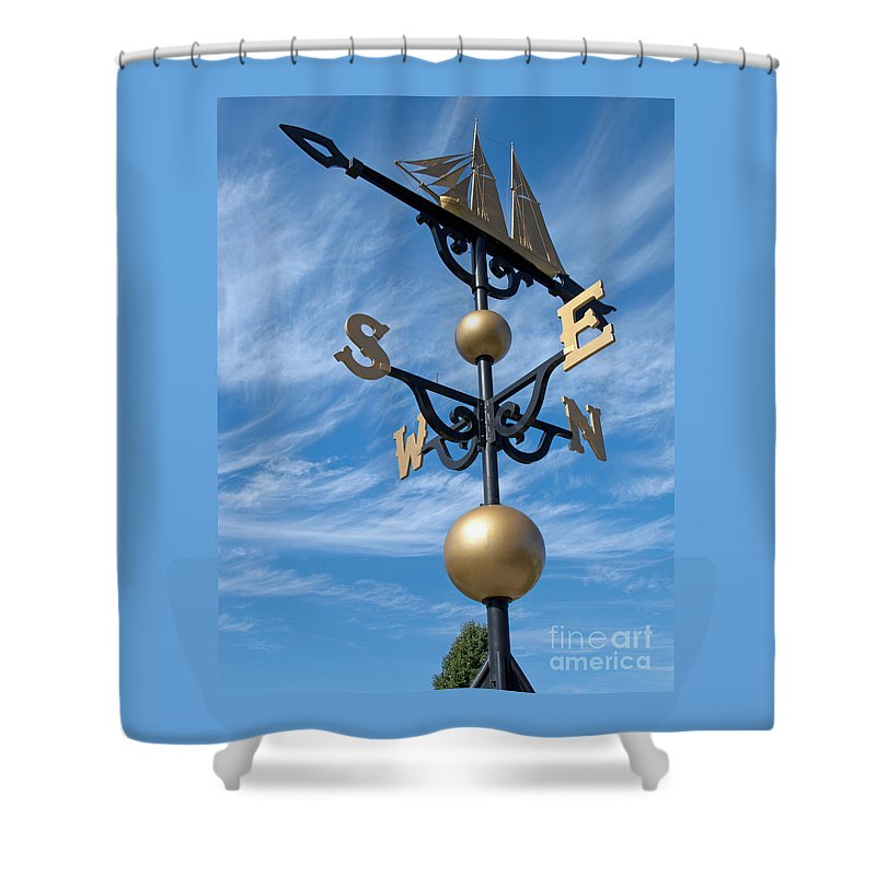 Ann Horn Shower Curtain featuring the photograph Largest Weathervane by Ann Horn