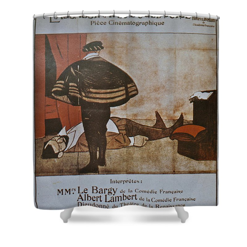 L'assassinat Du Duc De Guise Shower Curtain featuring the digital art L'assassinat Du Duc De Guise by Georgia Fowler