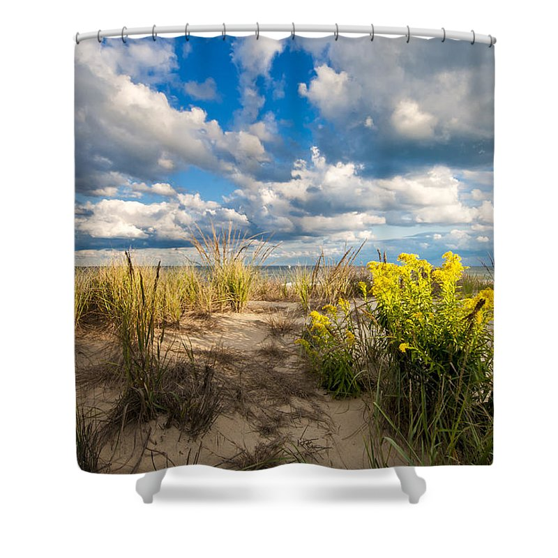 Beach Shower Curtain featuring the photograph Late Summer Dunes Ocean City by Jim Moore