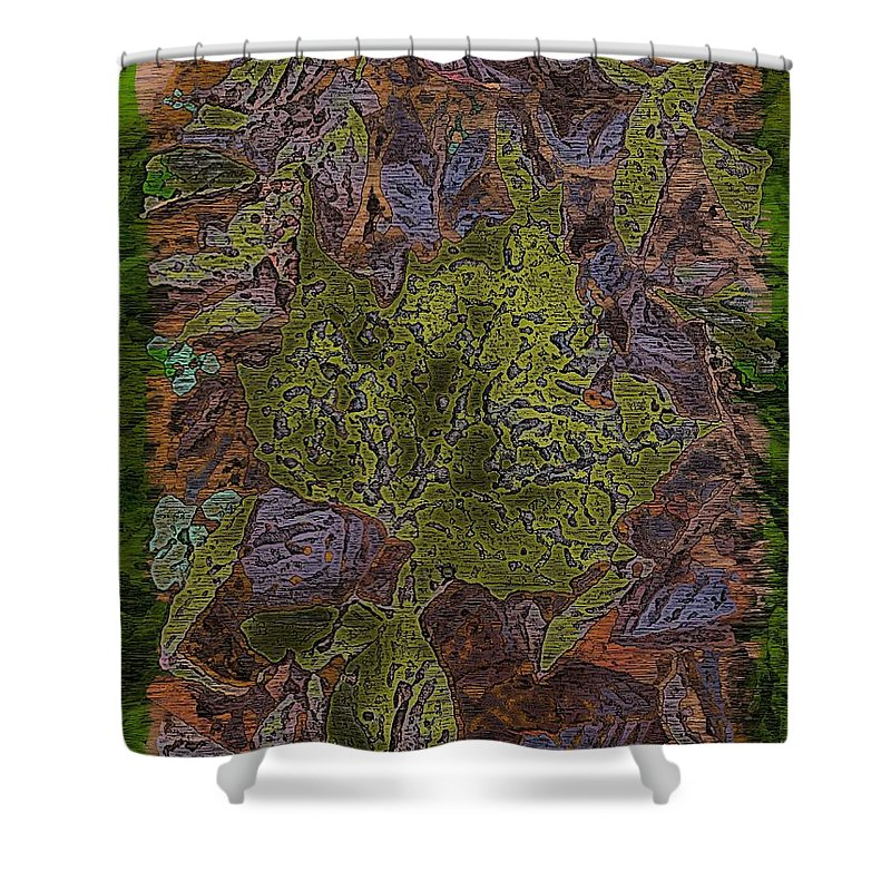 Leaves Shower Curtain featuring the digital art Leafy Goodness by Tim Allen