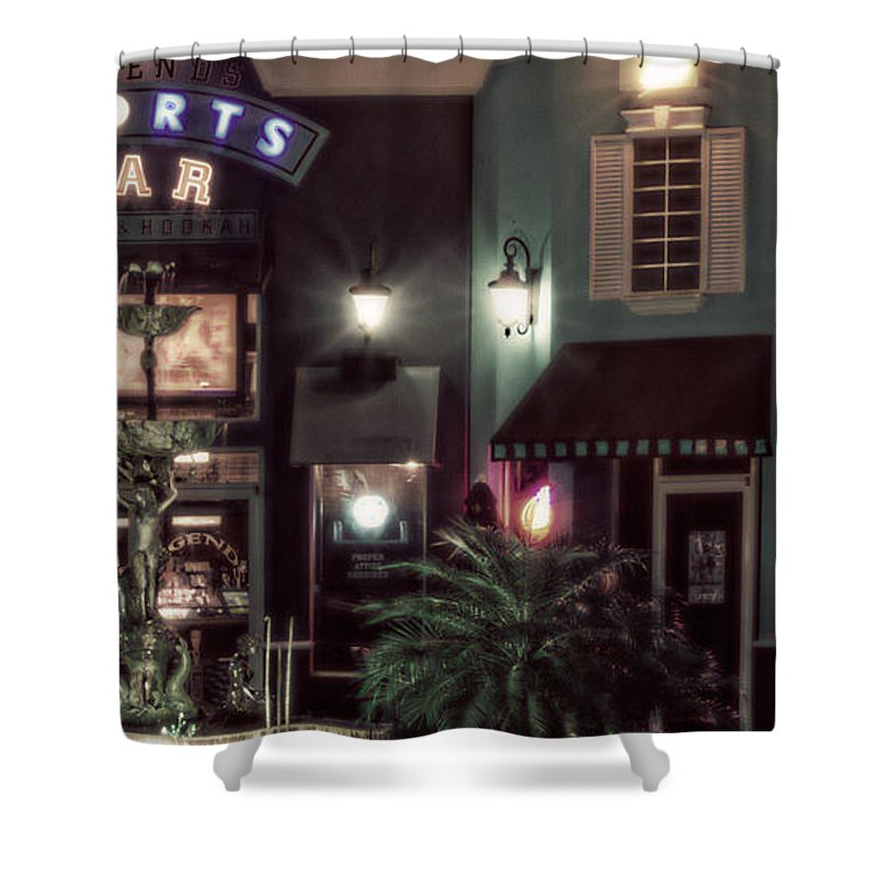 Night Shower Curtain featuring the photograph Legends- A Shift Of Green by Janie Johnson