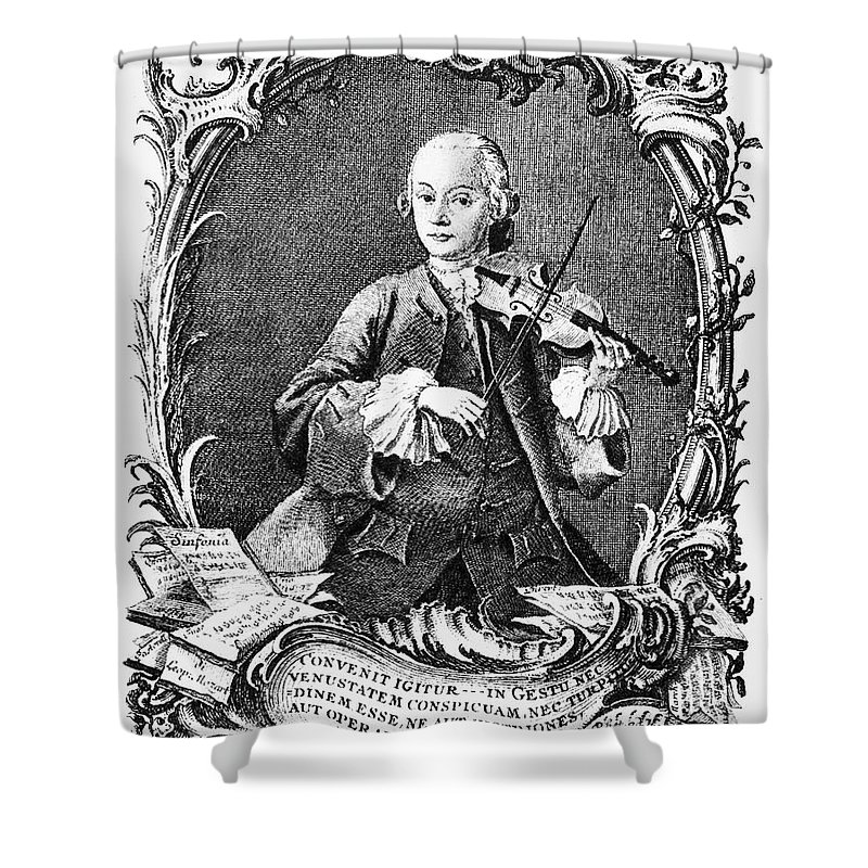 1756 Shower Curtain featuring the photograph Leopold Mozart (1719-1787) by Granger