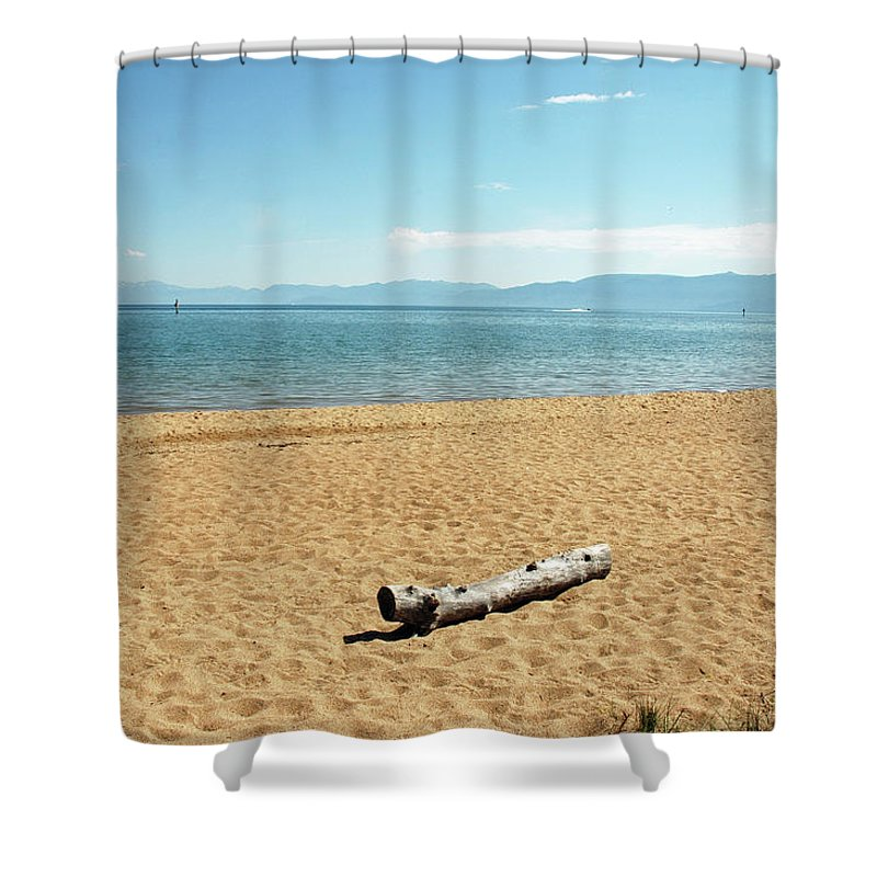 Usa Shower Curtain featuring the photograph Let Sleeping Logs Lie by LeeAnn McLaneGoetz McLaneGoetzStudioLLCcom