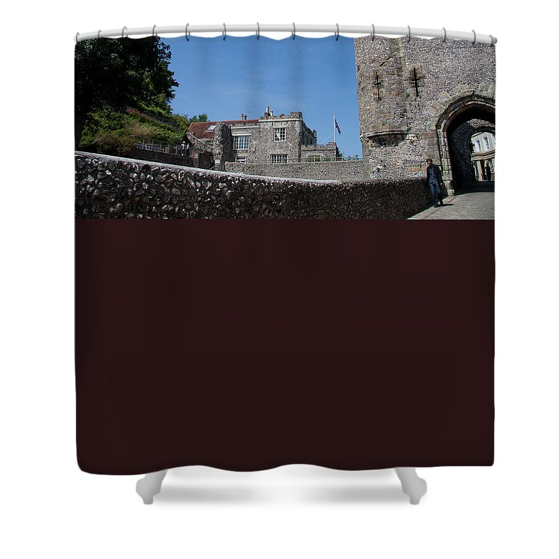 Lewes Castle Shower Curtain featuring the photograph Lewes Castle by Dawn OConnor