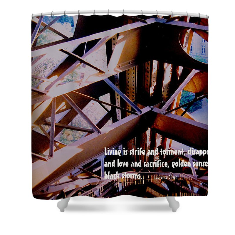 Life Shower Curtain featuring the photograph Life Is Strife by Ian MacDonald