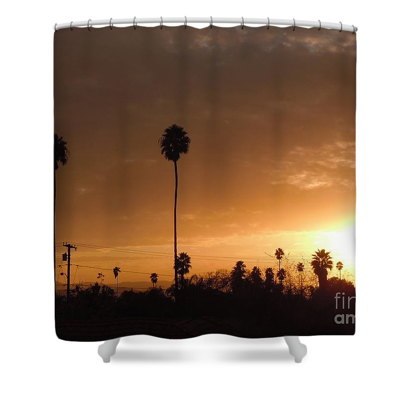 Sun Set Shower Curtain featuring the photograph Life Source... by Customikes Fun Photography and Film Aka K Mikael Wallin