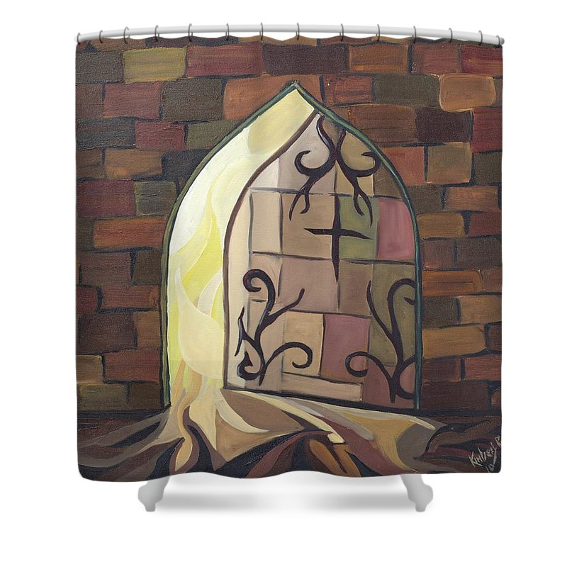 Light Shower Curtain featuring the painting Light Of Life by Kimberly Riggs