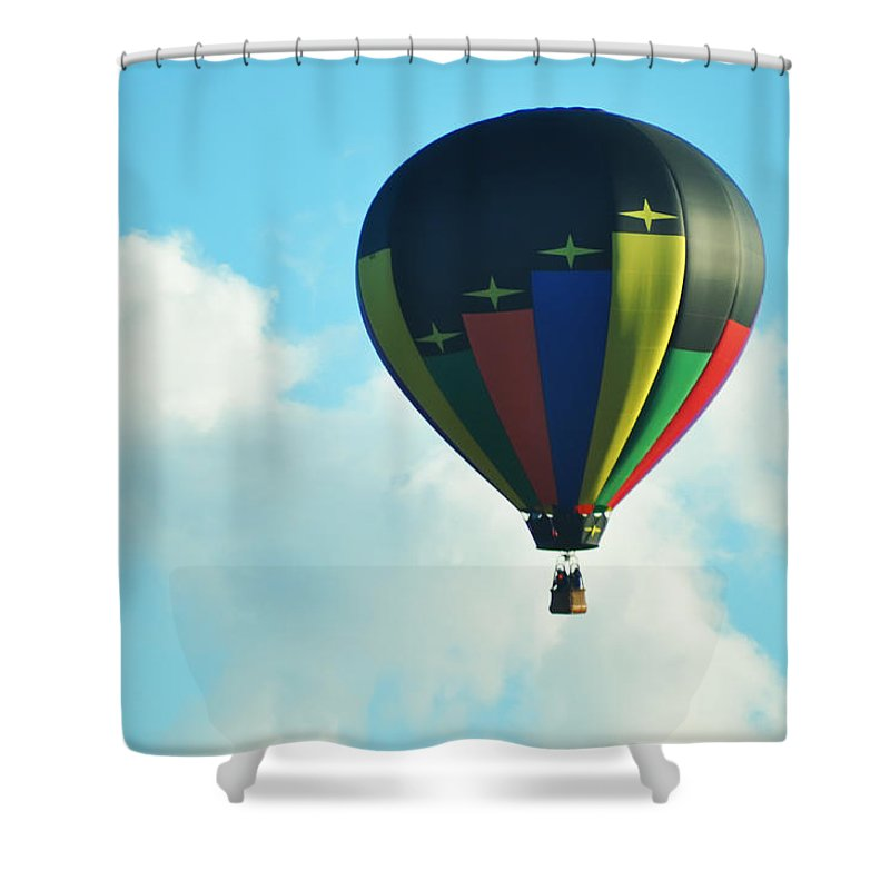 Balloon Shower Curtain featuring the photograph Lighter Than Air by Bill Cannon