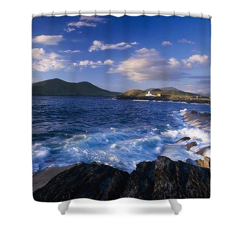 Coastal Shower Curtain featuring the photograph Lighthouse In The Distance, Fort Point by Gareth McCormack