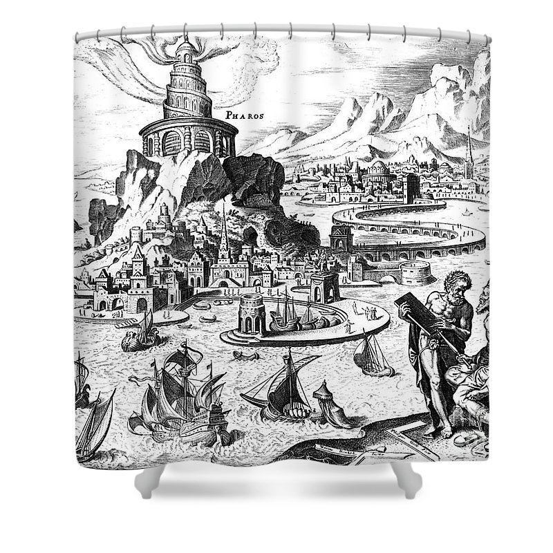 1638 Shower Curtain featuring the photograph Lighthouse Of Alexandria by Granger