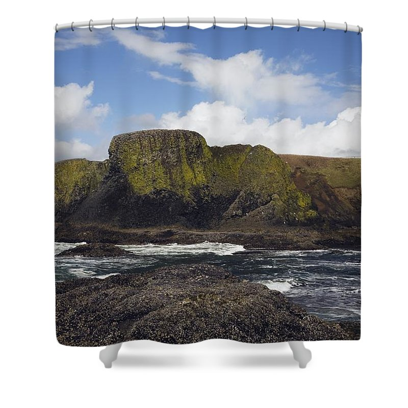Cliff Shower Curtain featuring the photograph Lighthouse On Coastal Cliff by Craig Tuttle