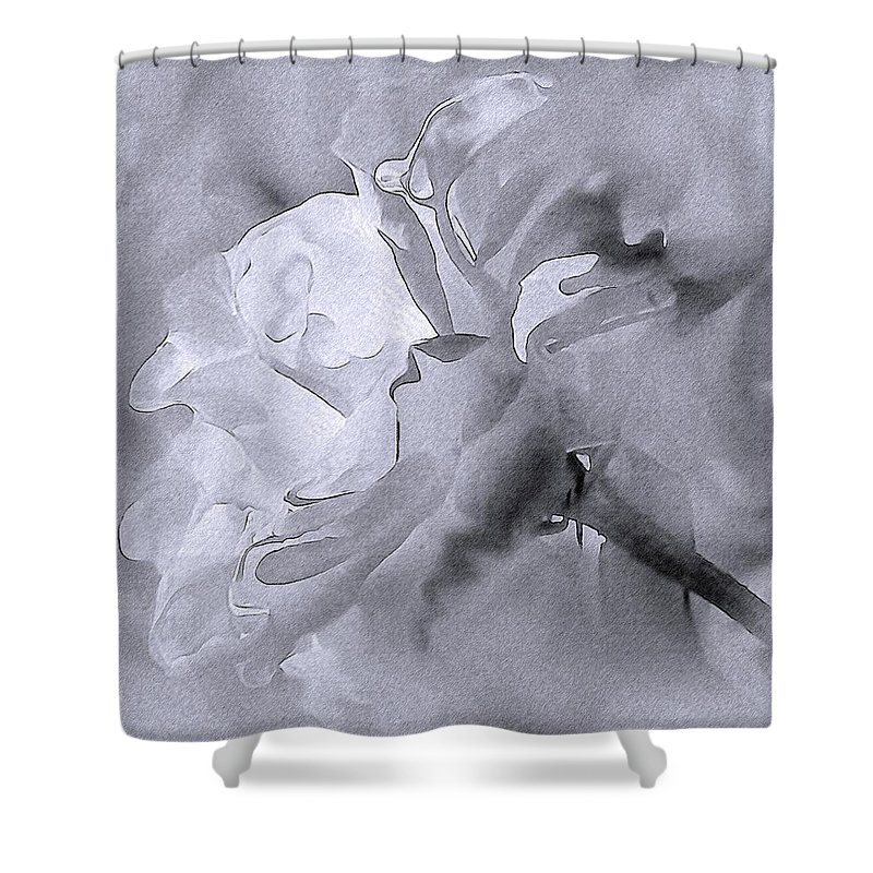 Rose Shower Curtain featuring the photograph Liquid Rose by Georgiana Romanovna