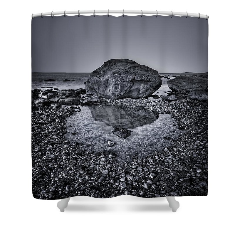 Rock Shower Curtain featuring the photograph Liquid State by Evelina Kremsdorf