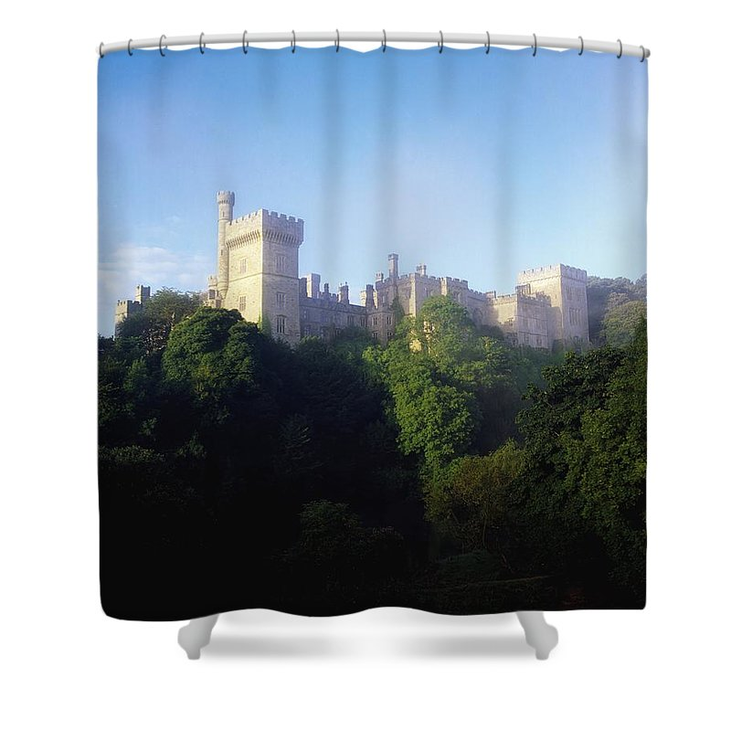 Blue Sky Shower Curtain featuring the photograph Lismore Castle, Co Waterford, Ireland by The Irish Image Collection