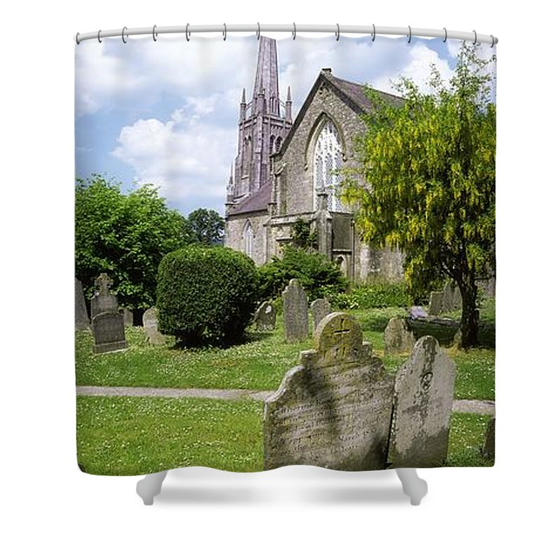 Cemetery Shower Curtain featuring the photograph Lismore, Co Waterford, Ireland by The Irish Image Collection