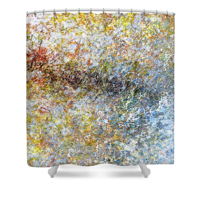 Shower Curtain featuring the painting Listening Macro2 by Christopher Gaston
