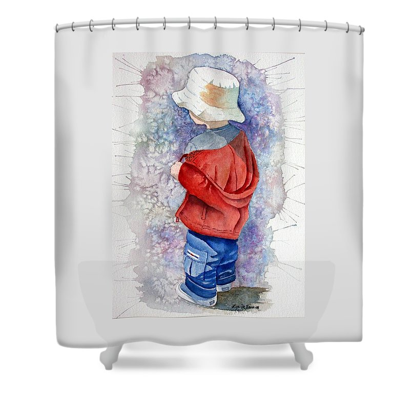 Boy Shower Curtain featuring the painting Little Boy by Lyn DeLano