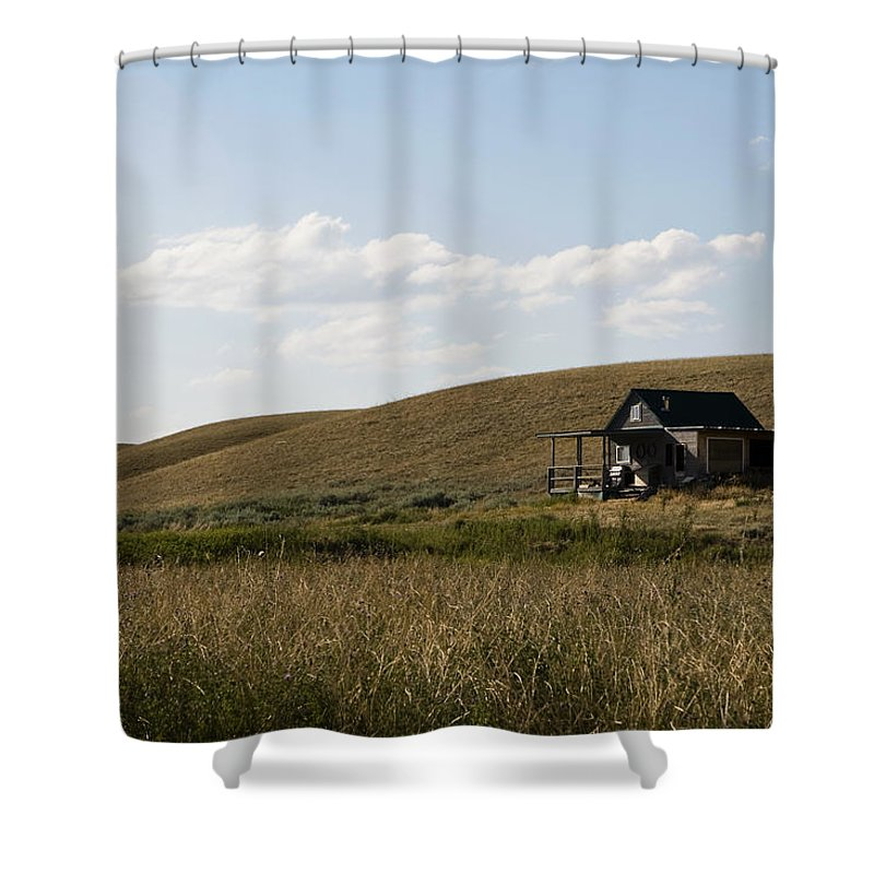 Farmhouse Shower Curtain featuring the photograph Little House On The Plains by Lorraine Devon Wilke