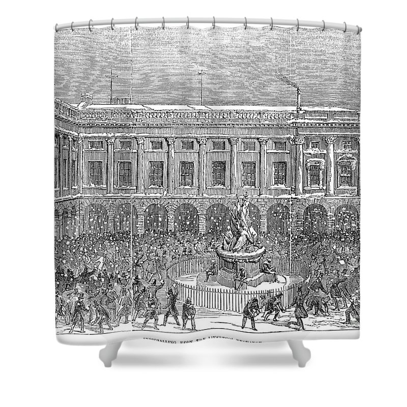 1854 Shower Curtain featuring the photograph Liverpool Exchange, 1854 by Granger