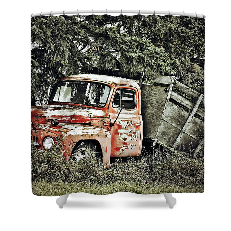 Photographer Shower Curtain featuring the photograph Load Of Roots by The Artist Project