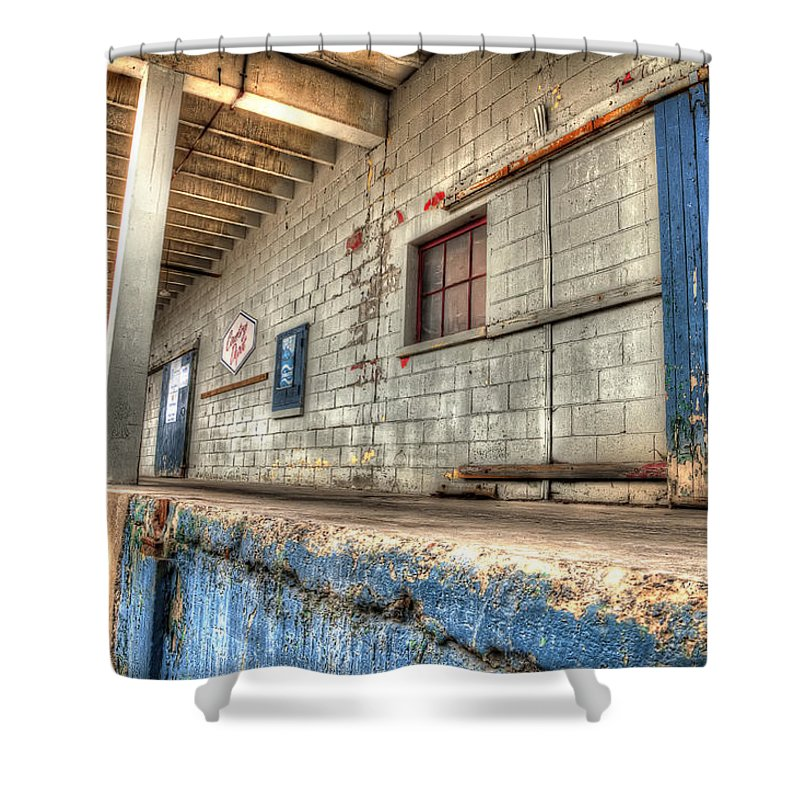 Acrylic Prints Shower Curtain featuring the photograph Loading Dock by John Herzog