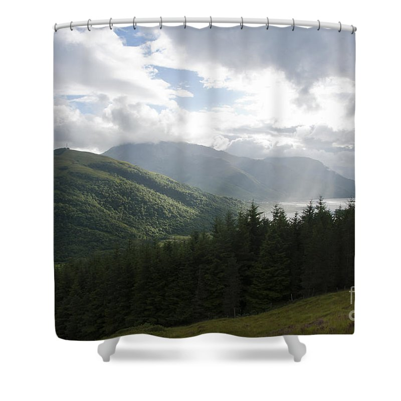 Britain Shower Curtain featuring the photograph Loch Leven by Andrew Michael