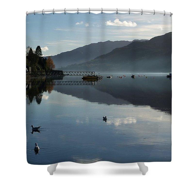 Lochgoilhead. Loch Goil Shower Curtain featuring the photograph Lochgoilhead by Lynn Bolt