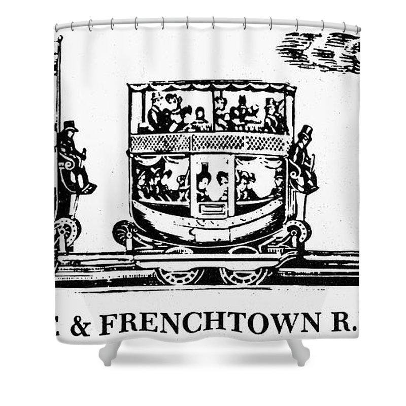1833 Shower Curtain featuring the photograph Locomotive, 1833 by Granger