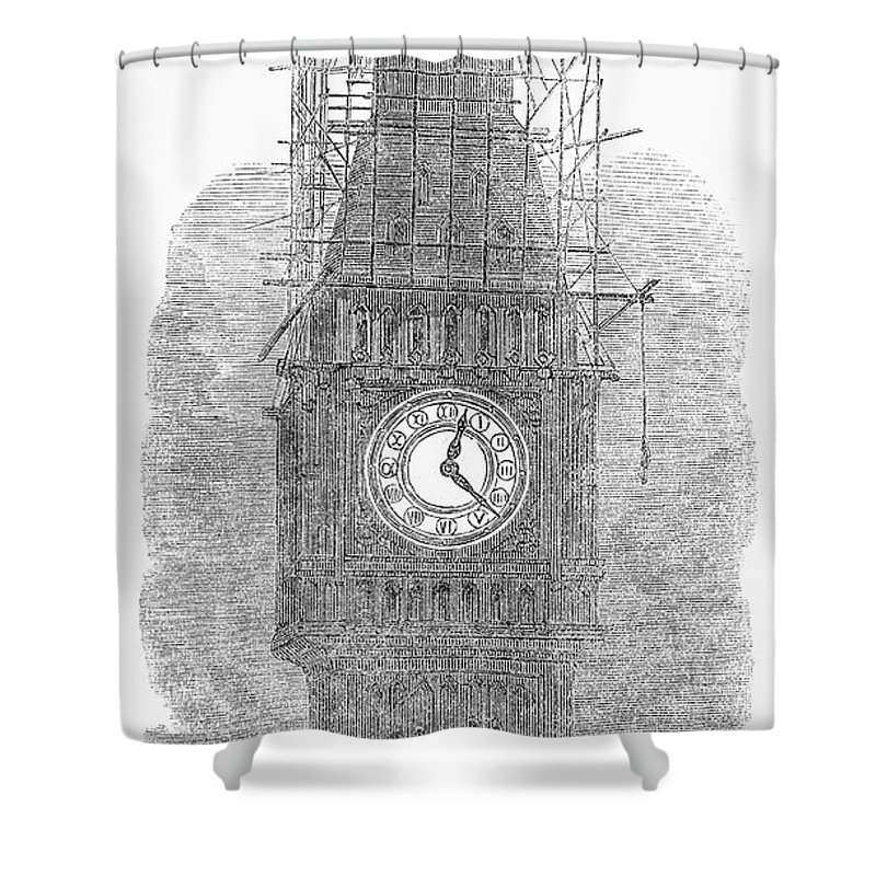 1856 Shower Curtain featuring the photograph London: Big Ben, 1856 by Granger