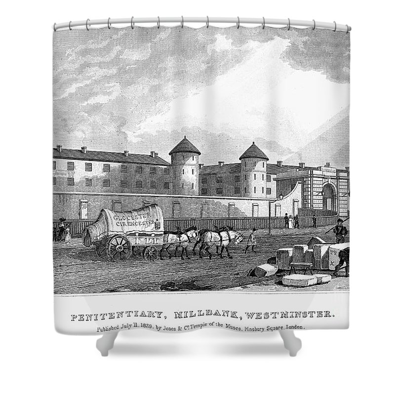 1829 Shower Curtain featuring the photograph London: Prison, 1829 by Granger