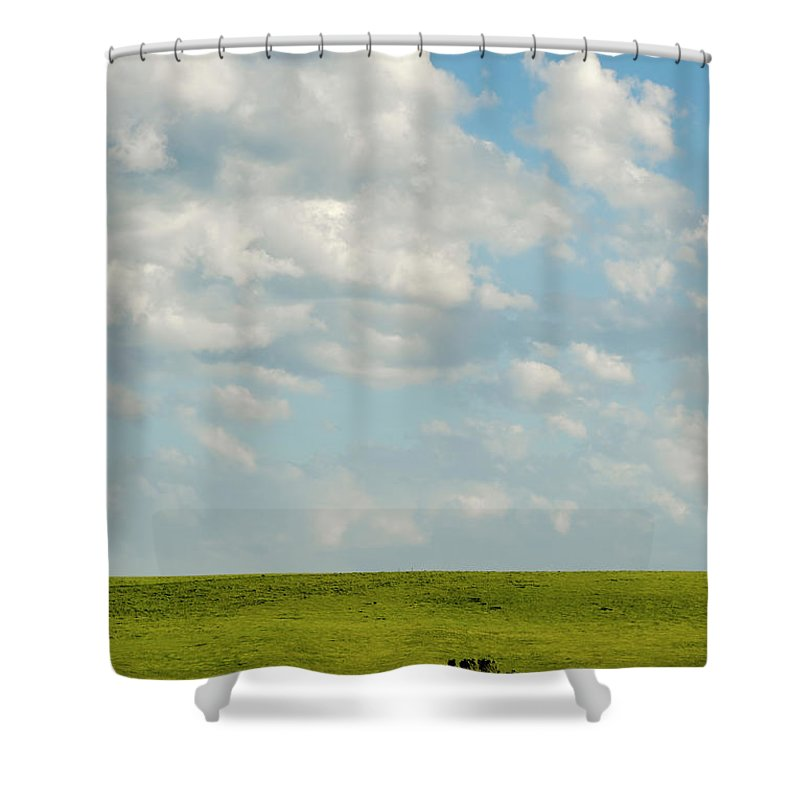 Americas Shower Curtain featuring the photograph Lone Trees by Roderick Bley