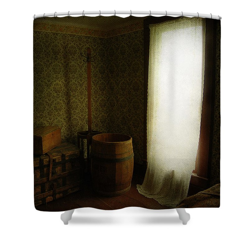 Jerry Cordeiro Photographs Shower Curtain featuring the photograph Lonely Traveler by The Artist Project