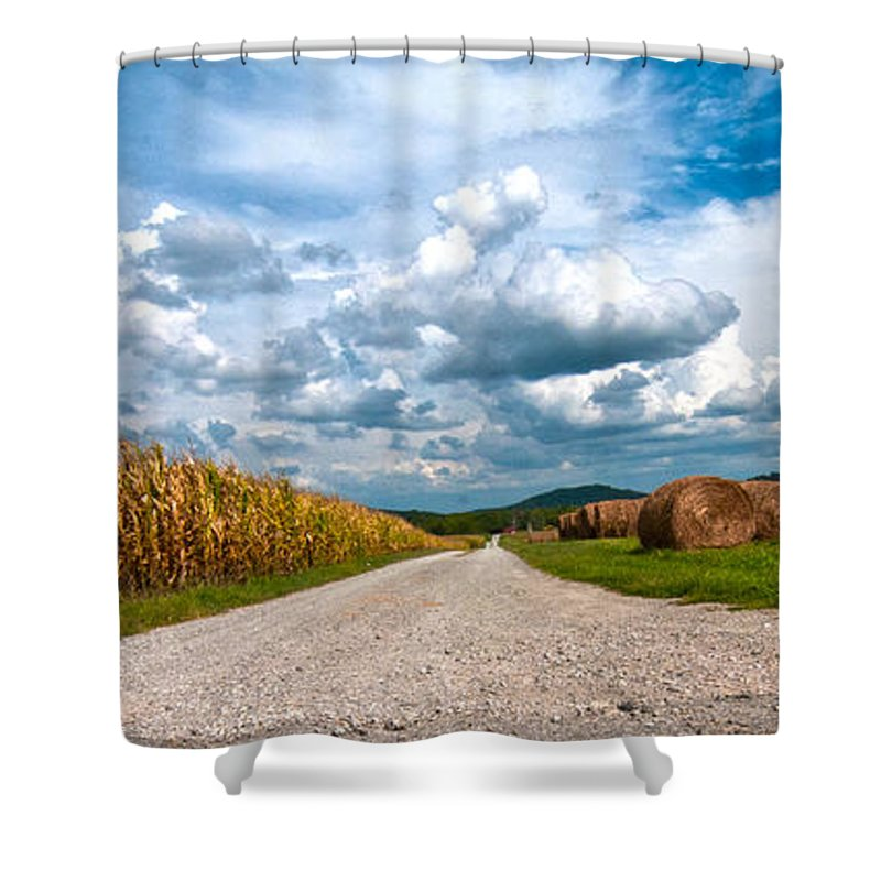 Farms Shower Curtain featuring the photograph Lonesome Lane by Randall Branham