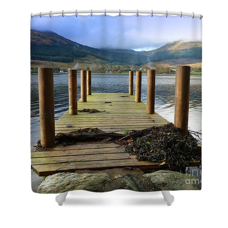 Scotland Shower Curtain featuring the photograph Long Walk Off A Short Pier by Lynn Bolt