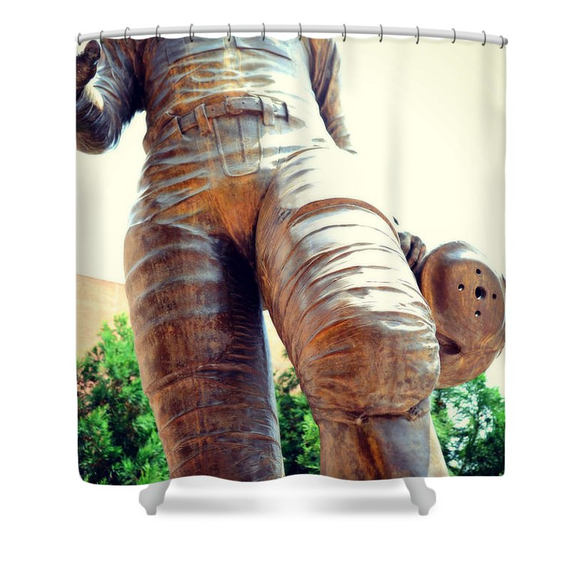 Charlie Shower Curtain featuring the photograph Looking Up To Choo Choo by Paulette B Wright