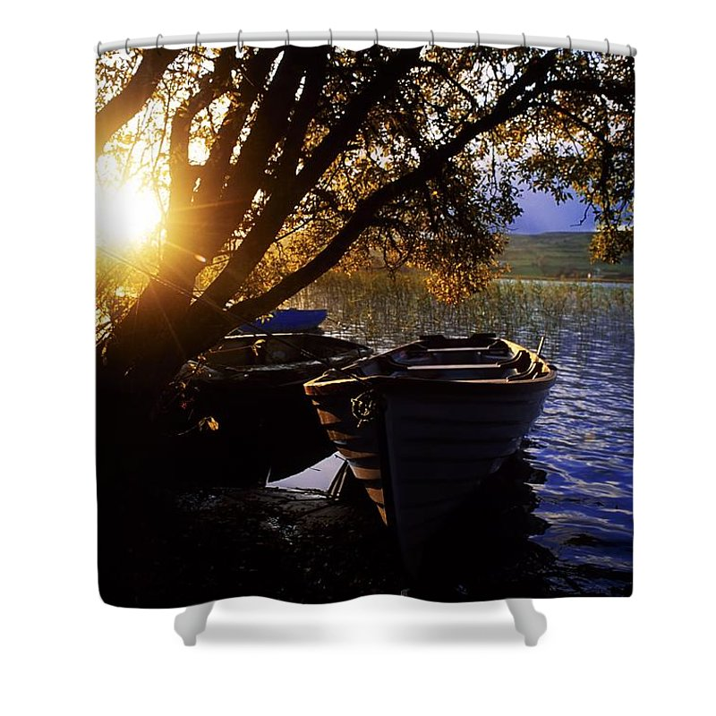 Ballinafad Shower Curtain featuring the photograph Lough Arrow, Co Sligo, Ireland Lake by The Irish Image Collection