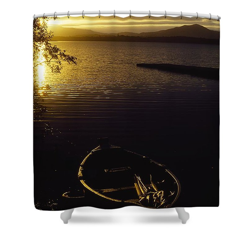 Boat Shower Curtain featuring the photograph Lough Leane, Lakes Of Killarney by The Irish Image Collection