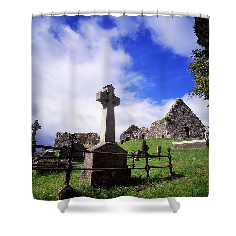 Architectural Exteriors Shower Curtain featuring the photograph Loughinisland, Co. Down, Ireland by The Irish Image Collection