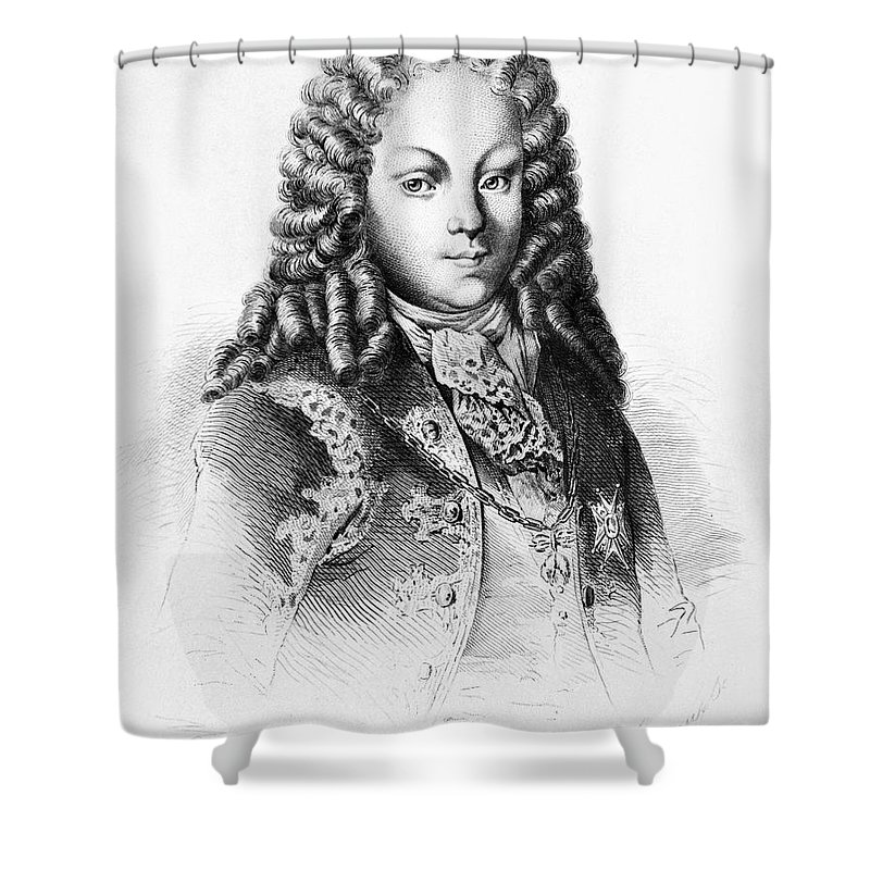1724 Shower Curtain featuring the photograph Louis I Of Spain (1707-1724) by Granger