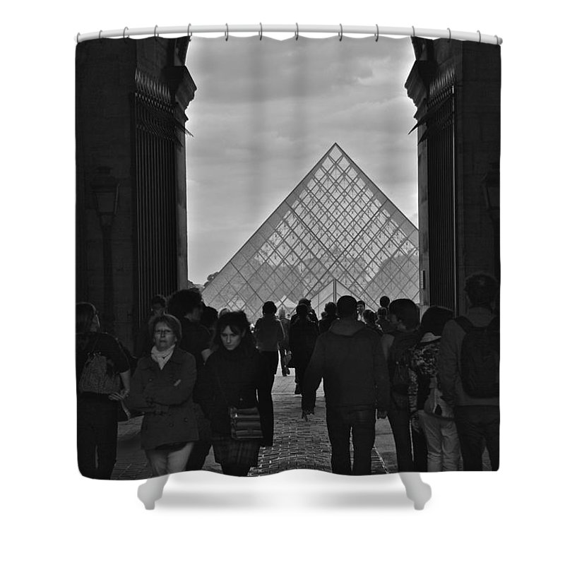 Louvre Shower Curtain featuring the photograph Louvre Archway by Eric Tressler