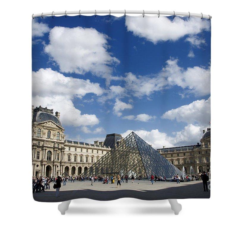 Paris Shower Curtain featuring the photograph Louvre Museum. Paris by Bernard Jaubert