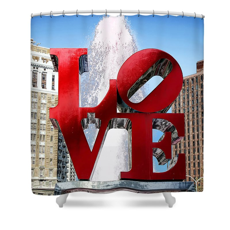 Love Sculpture Shower Curtain featuring the photograph Love by Andrew Fare