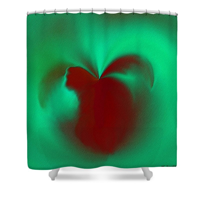 Modern Shower Curtain featuring the digital art Love Effusion by ME Kozdron