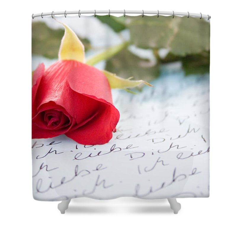 Letter Shower Curtain featuring the photograph Love by Kati Finell
