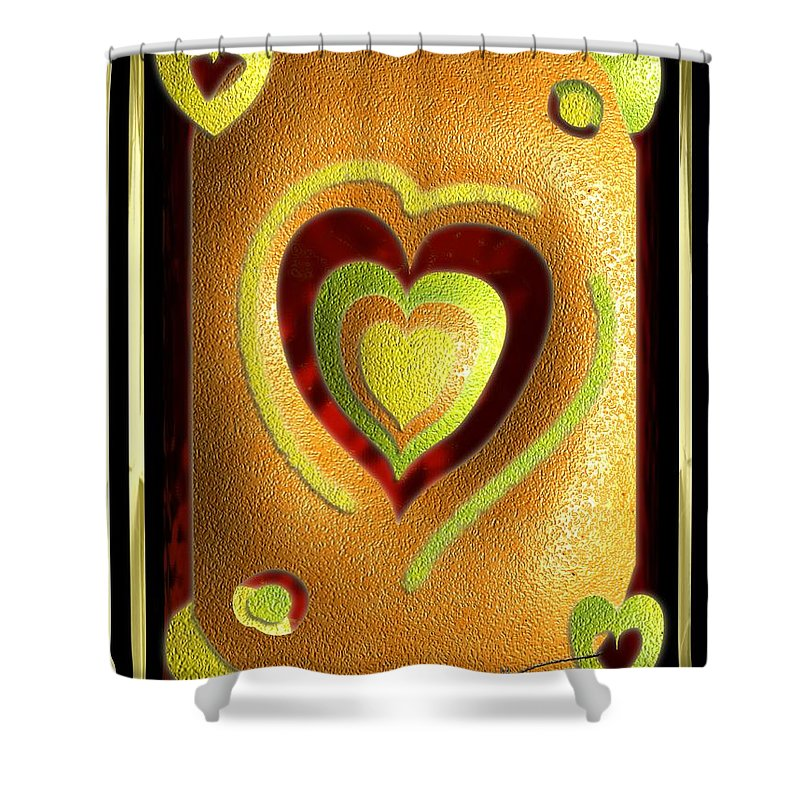 Love Shower Curtain featuring the digital art Love Of Fruit And Jello by Michael Hurwitz