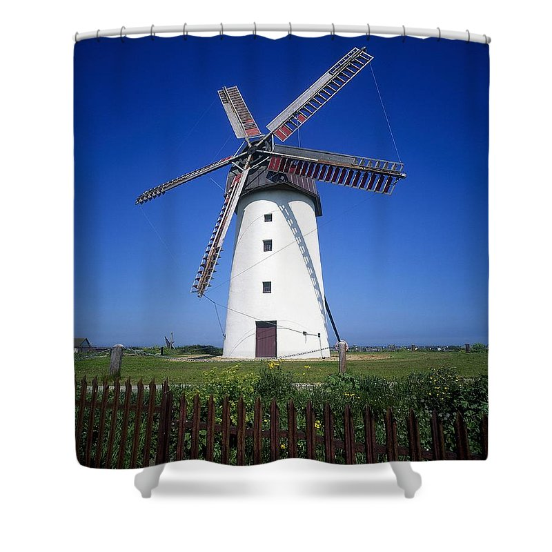 Alternative Energy Shower Curtain featuring the photograph Low Angle View Of A Traditional by The Irish Image Collection