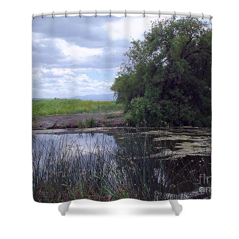 Lower Klamath Wildlife Refuge Shower Curtain featuring the photograph Lower Klamath Wildlife Refuge by Methune Hively